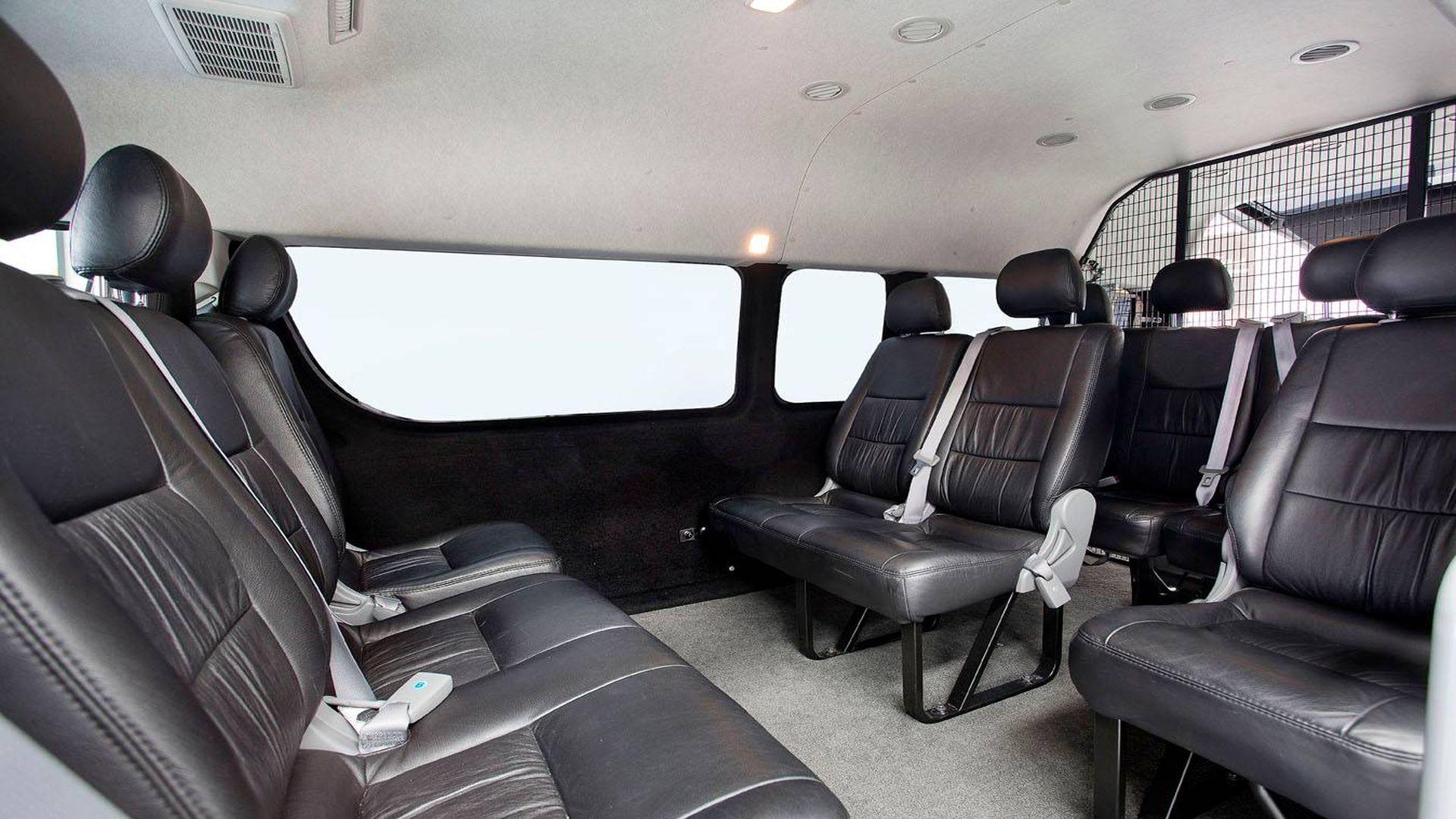 11 Seater Mini Bus Interior